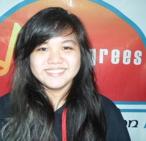 SHEKINA ELLEZE ALFONSO, 20, ALTO Manila Dream in life:  Aspiring Director Jeremiah 29:11